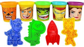 Play Doh Learn Colors with Paw Patrol PJ Masks Peppa Fun For Kids