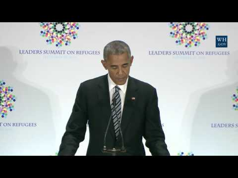 President Obama Participates in a Refugee Summit