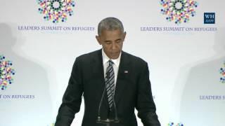 President Obama Participates in a Refugee Summit