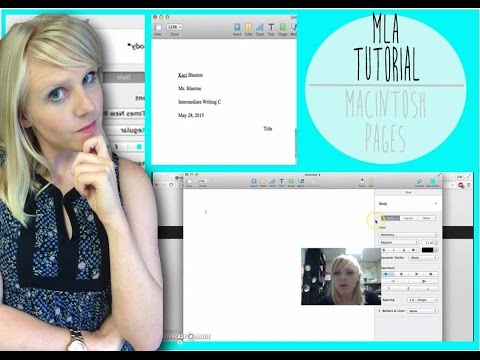 HOW TO: MLA Formatting (Pages/Macintosh Computer Tutorial)