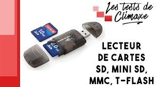 Test d'un lecteur de cartes SD, MiniSD, MMC et T-Flash (vidéo sans la voix)