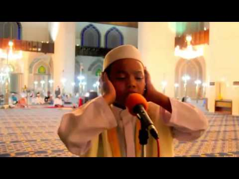 A very beautiful call to prayer sung by a small child in the mosque