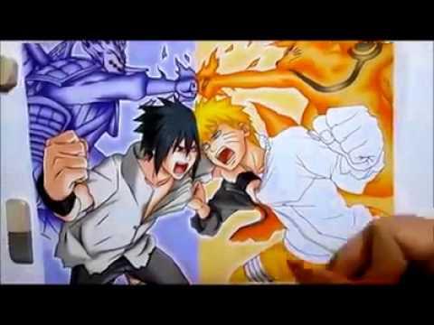 Warna Warni Cara Mewarnai Naruto Dan Sasuke Belajar Anak Youtube