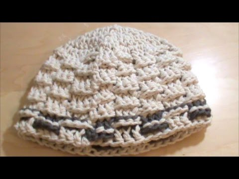 94c4c0b266 Πλεκτό σκουφάκι με πλέξη καλάθι - YouTube