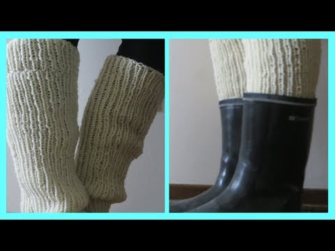How To Knit Leg Warmers Easy Youtube