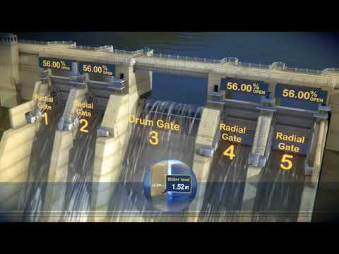 How the gates on Warragamba Dam work