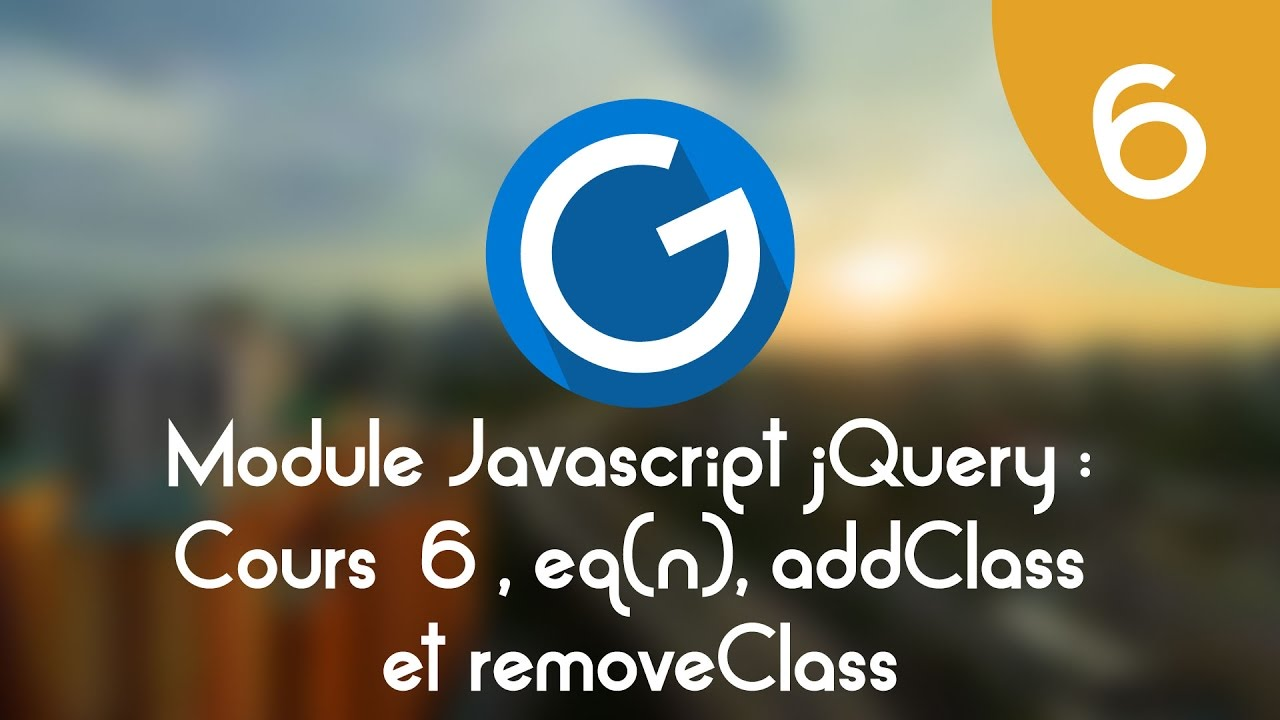 Download Formation IMM - Module Javascript jQuery: Cours tuto 6, eq(n), addClass & removeClass