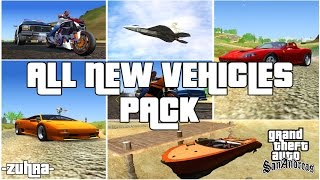 GTA SAN ANDREAS: ALL NEW VEHICLES PACK+ Tunable Cars