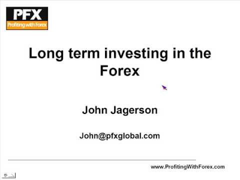 John Jagerson: Strategies for Long Term Profits in the Forex
