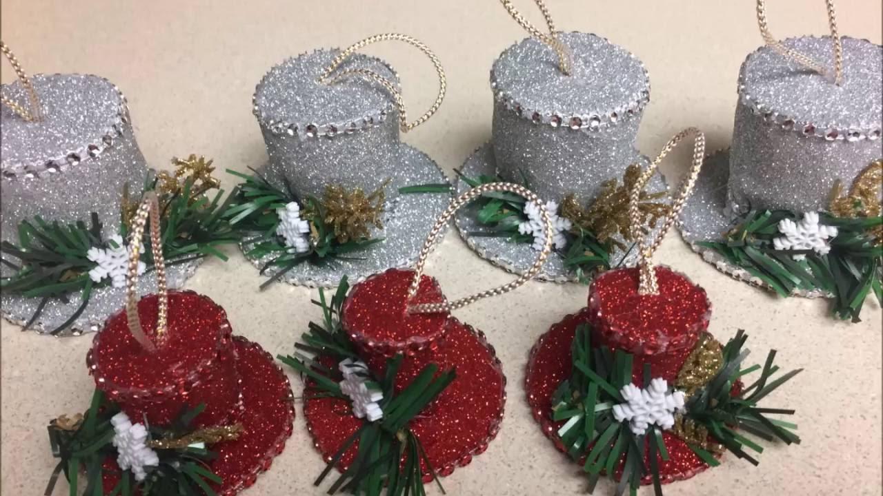 Manualidad de sombrero navide o youtube - Centros de mesa navidenos hechos a mano ...