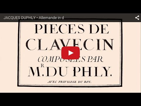 JACQUES DUPHLY • Allemande in d