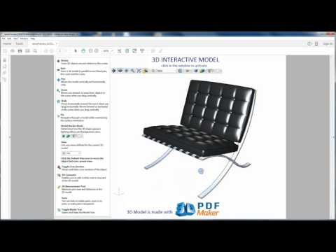 3D PDF Maker For Rhino  Tutorial 1.  Insert Rhino 3D Models In PDF