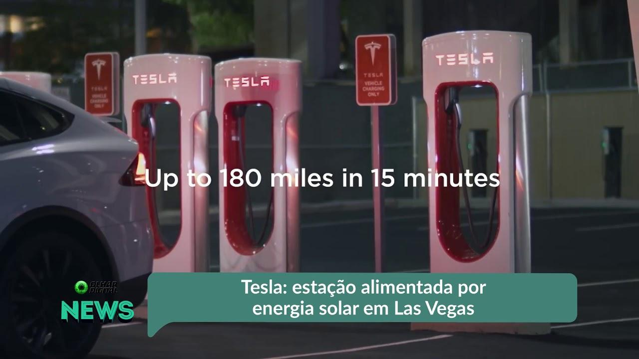 TESLA: ESTAÇÃO ALIMENTADA POR ENERGIA SOLAR EM LAS VEGAS