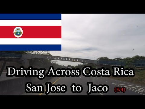 (no audio) Driving Across Costa Rica - San Jose to Jaco (3/4) November 2016