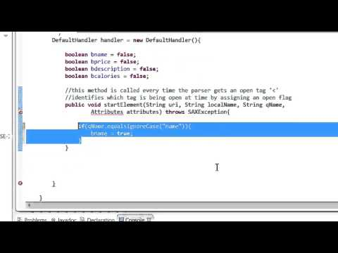 Non validating xml parsers tutorial