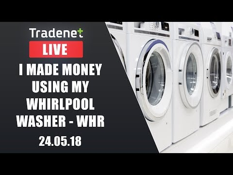 Live Day Trading room streaming -  I made money using my whirlpool washer - WHR