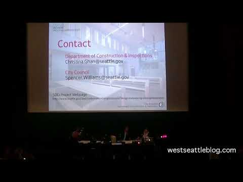 Seattle City Council committee hearing on Design Review changes