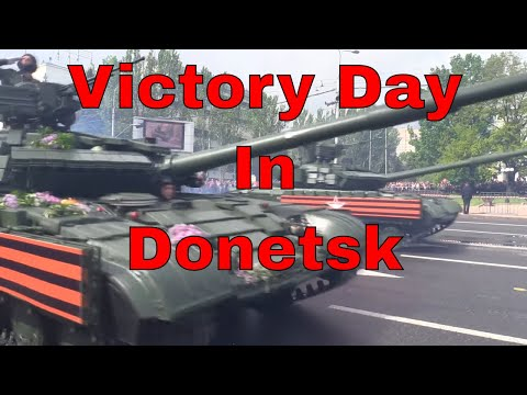 Victory Day Parade In Ukraine Breakaway Donetsk People's Republic 2019