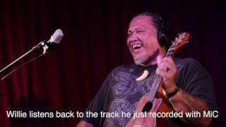 After recording his ukelele + vocal performance with Apogee MiC, Wi...