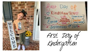 Brooklyn's first day of kindergarten