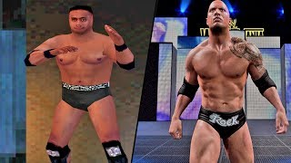A visual History of THE ROCK in WWE Games! (1998-2017)