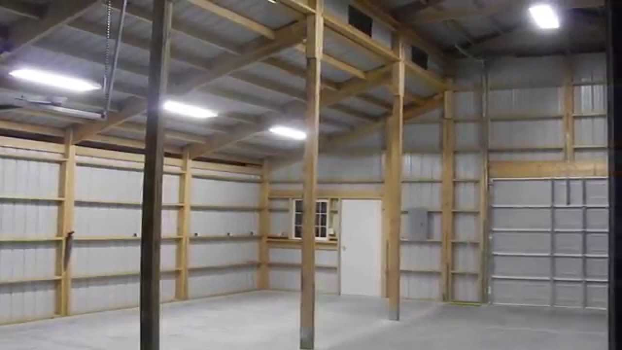 Exterior Lighting   Pole Barn   YouTube