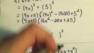 Factoring Sums And Differences Cubes