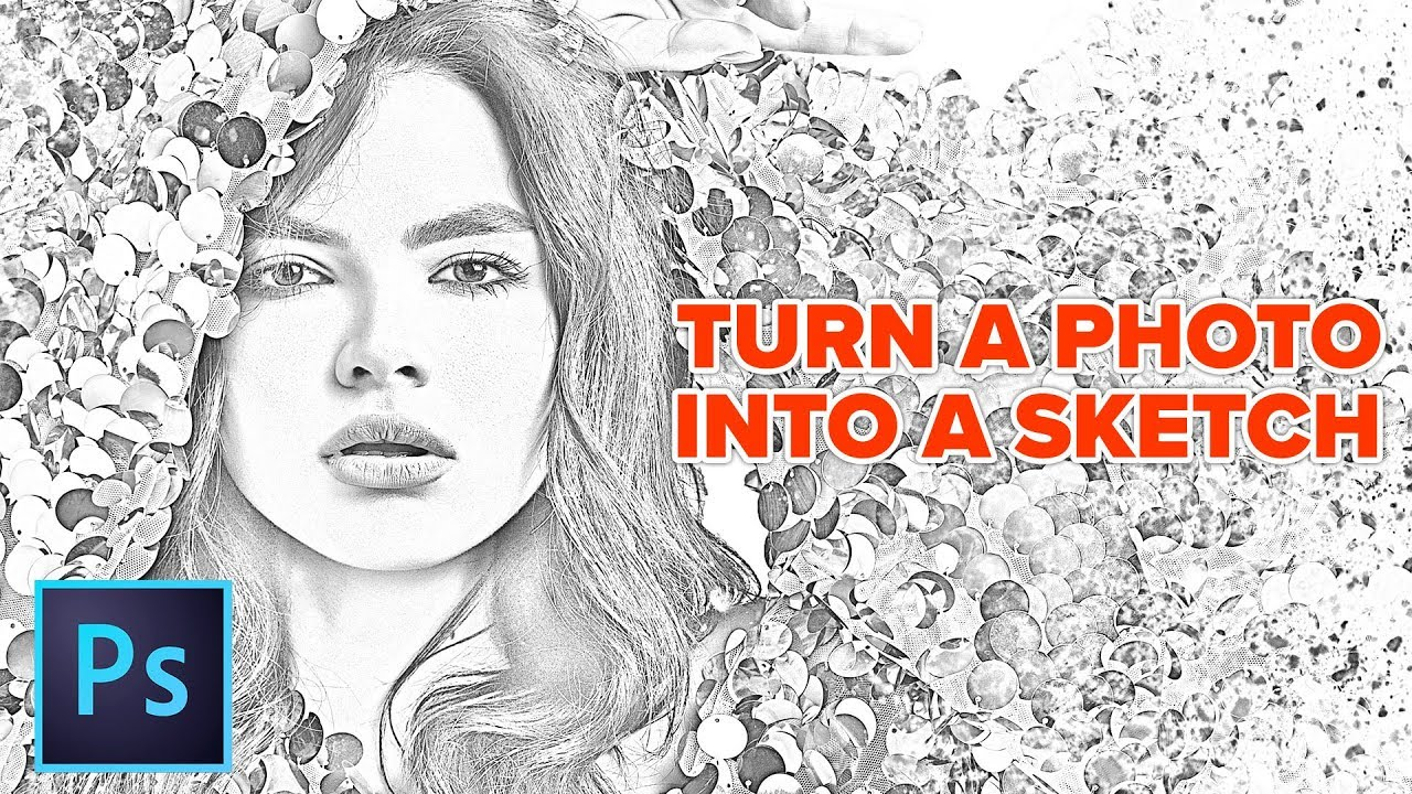 How to turn a photo into a pencil drawing in photoshop the