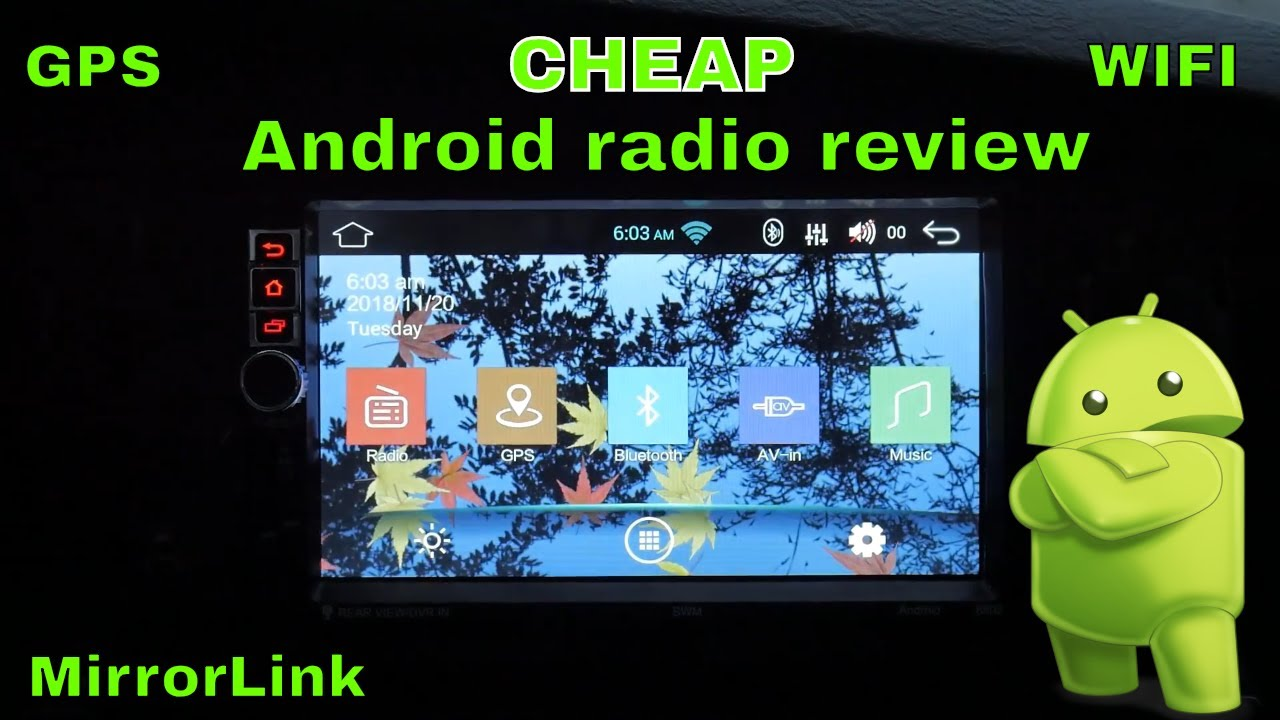 Android 7 1 Car Radio with WIFI and Mirrorlink- Install and Review