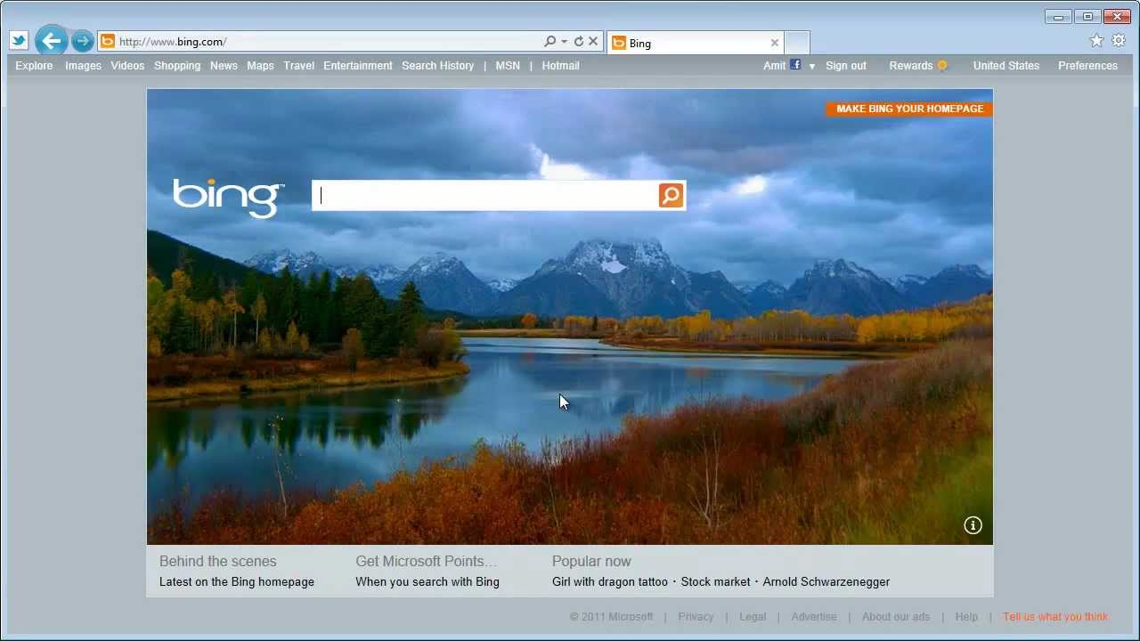Bing Homepage with Video - YouTube