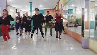 "Zumba dangdut "" MAMA MUDA"" with Uki tea,  juwita studio,  BEKASI"