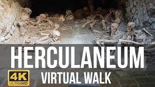 Herculaneum, Italy Walking Tour In 4k