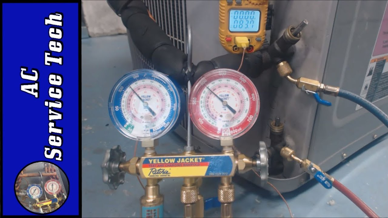 Refrigerant Charging How To Check A R 410a Refrigerant