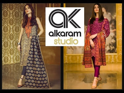 ALKARAM STUDIO 3PC UNSTITCHED LAWN DRESSES NEW ARRIVALS 2020 - YouTube