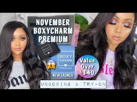NEW NOVEMBER BOXYCHARM PREMIUM 2019 || UNBOXING & TUTORIAL || $35 BOX WITH VALUE OVER $340 thumbnail