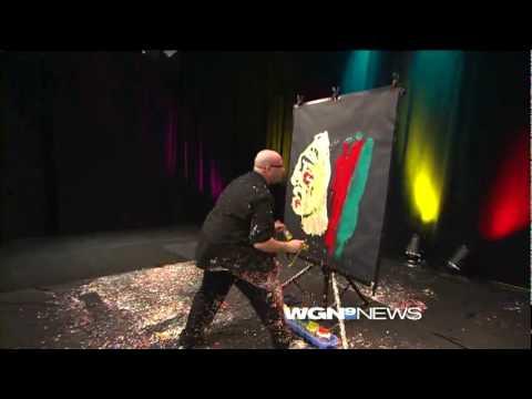 Artbeat Live Paints Chicago Blackhawks Logo