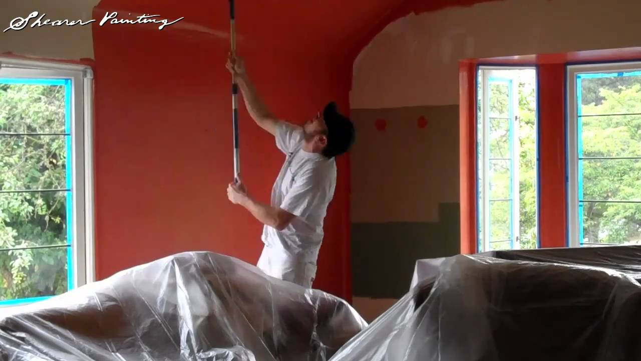 Red Walls Interior Painting