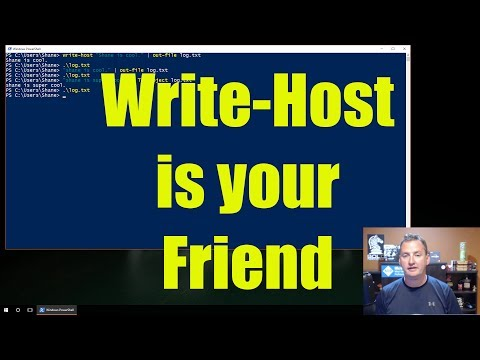 How to use Write-Host for PowerShell