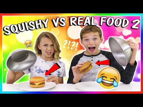 SQUISHY VS REAL FOOD SWITCH UP | IS IT DISGUSTING? | We Are The Davises