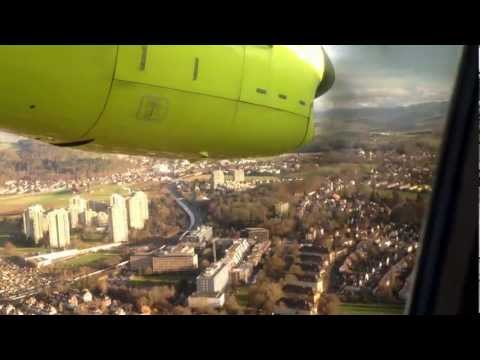 DO328 from Skywork landing in Berne, Switzerland -1080P-