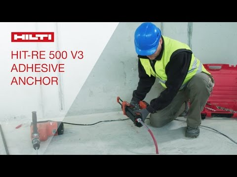 review of hilti 39 s hit re 500 v3 adhesive anchor. Black Bedroom Furniture Sets. Home Design Ideas