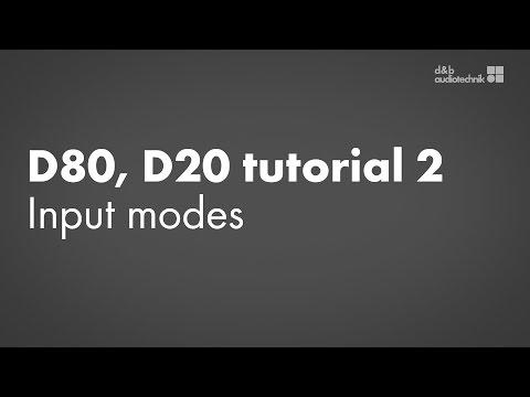 D80, D20 amplifiers tutorial 2 Device setup: Input modes