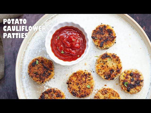 VEGAN POTATO CAULIFLOWER PATTIES | Vegan Richa Recipes
