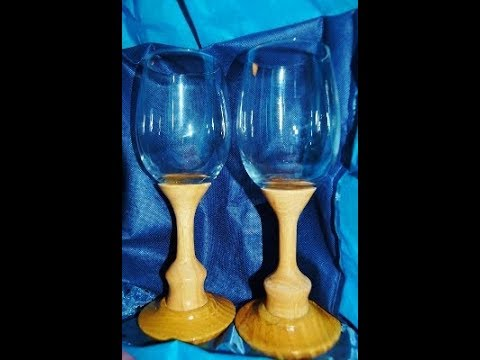 Wine Glasses From Table Leg