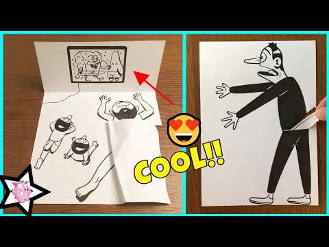 Funny Illustrations With 3D Art Illusion On Paper Bring Cartoons To Life (Part 2)