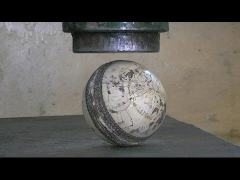 Cricket ball vs Hydraulic Press