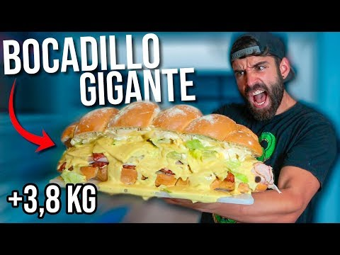 BOCADILLO GIGANTE DE +3,8 KG EN TIEMPO RECORD (11.000 KCAL)