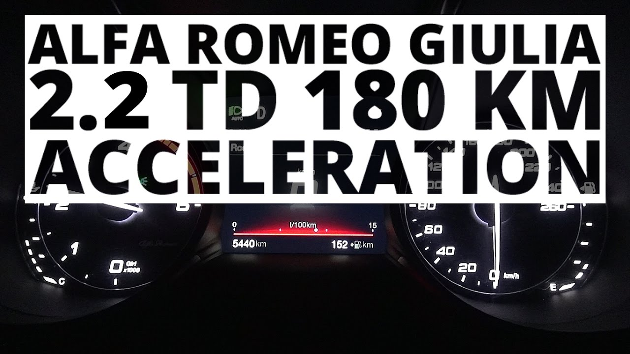 Alfa Romeo Giulia 2.2 TD 180 hp (AT) – acceleration 0-100 km/h