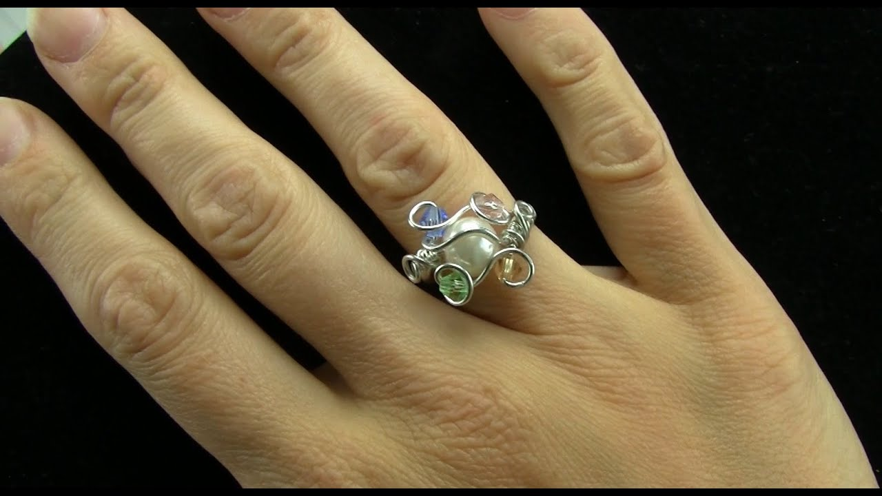Birthstone Mothers Ring Wire Wrap Tutorial YouTube