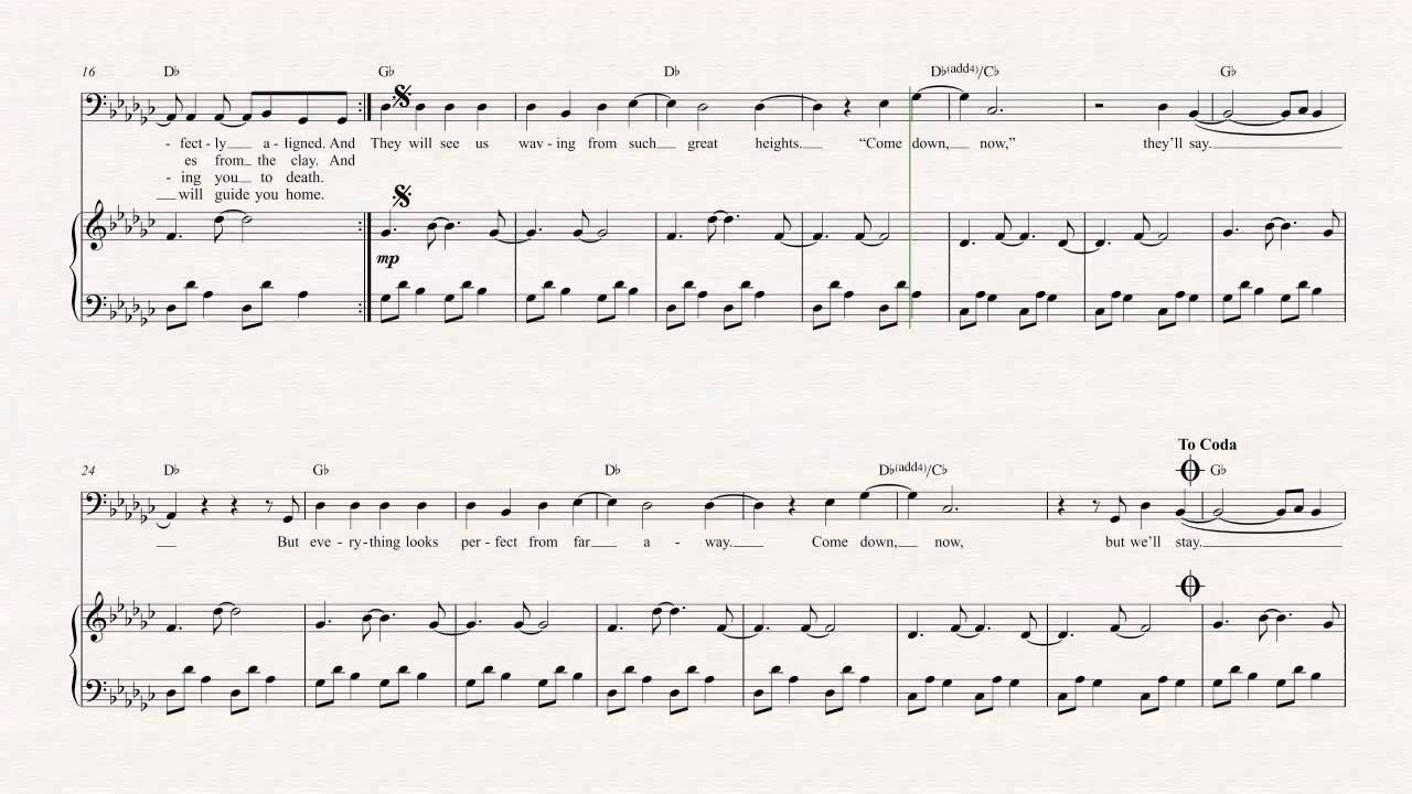 Cello   Such Great Heights   Iron and Wine   Sheet Music, Chords, & Vocals